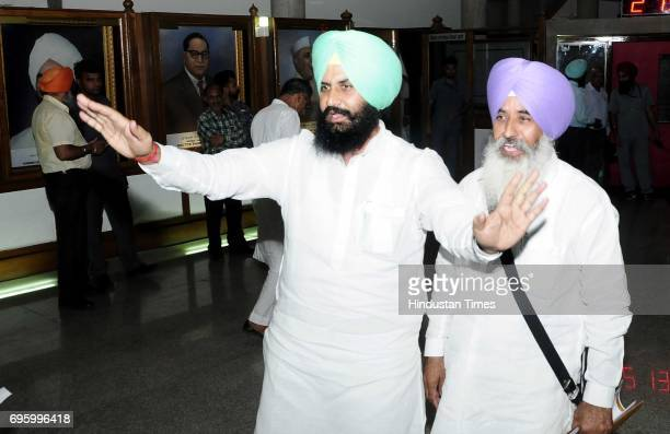 Bains brothers at Punjab Vidhan Sabha Session on June 14 2017 in Chandigarh India On the first day of the budget session Punjab Assembly witnessed...