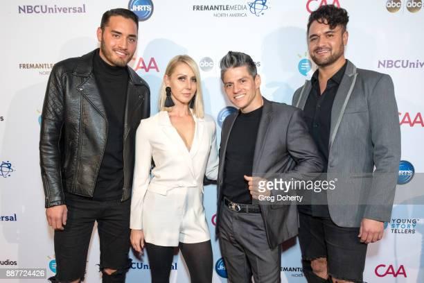 CJ Bair Patricia Kaniowski Legacy Perez and Tony Cuchitel attend The Junior Hollywood Radio Television Society's 15th Annual Holiday Party at Le...
