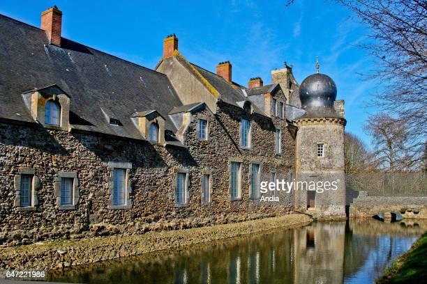 Bais : the Montesson chateau, castle registered as a National Historic Landmark