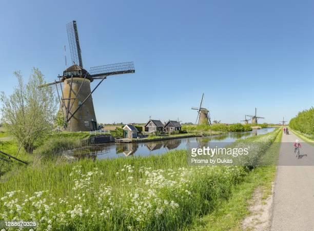 Baisin drainage windmill called Nederwaard Molen number 8, Kinderdijk, Zuid-Holland.