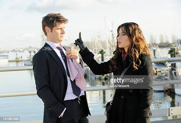LEGAL 'Bait and Switch' Episode 203 Pictured Ryan Johnson as Ben Sarah Shahi as Kate Reed