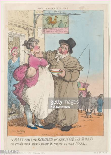 Bait for Kiddies on the North Road. Or That's Your Sort Prime Bang up the Mark, [May 5, 1810], reprint. Artist Thomas Rowlandson.