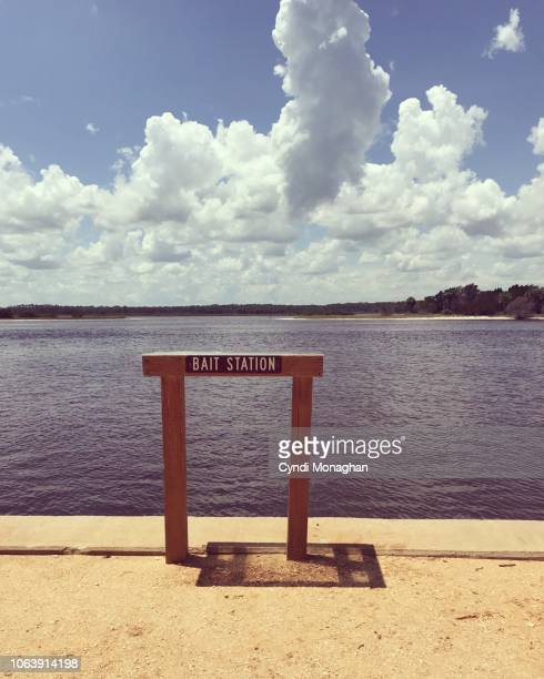 Bait Station at the edge of the Water in Florida, Intracoastal Waterway