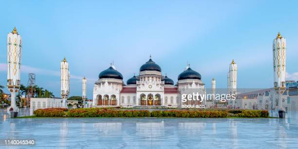 baiturrahman grand mosque, banda aceh, indonesia - banda aceh stock pictures, royalty-free photos & images