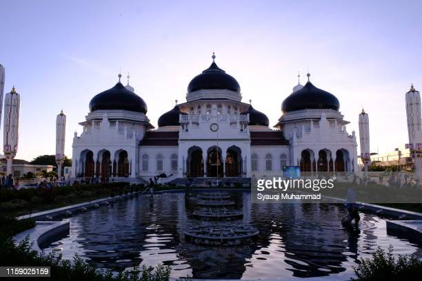 baiturrahman mosque, aceh, indonesia - banda aceh stock pictures, royalty-free photos & images