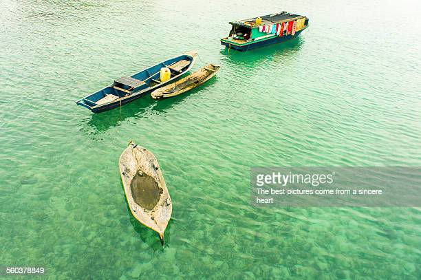 Bajau floating boat