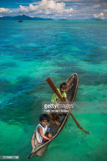 Bajau Kids on Sampan