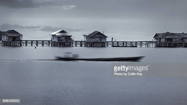 bajau - life on the water - collin key stock-fotos und bilder