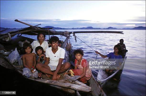 Bajau people in Northern Borneo In Malaysia In 1993.