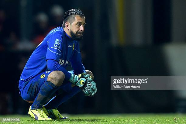 Bajkovic Boban goalkeeper of K Lierse Sk shows dejection during the Jupiler Pro League match between K. Lierse S.K. And Standard de Liege in Lier,...