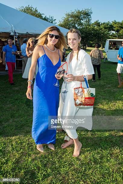 Bajra Kingsley and Sylvia Channing attend the 10th Annual Get Wild Summer Benefit on August 13 2016 in Bridgehampton New York