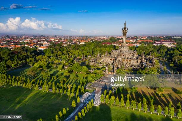 bajra sandhi monument in denpasar bali indonesia - denpasar stock pictures, royalty-free photos & images