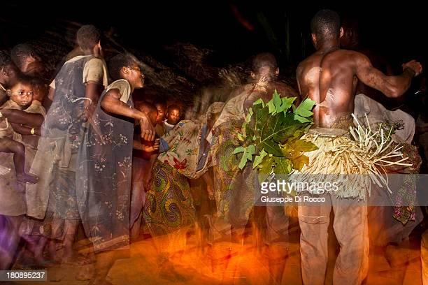Baka Pygmies. Dance. Africa. South East Cameroon. Dja Reserve.