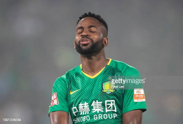 Bakambu of Beijing Guoan in action during 2018 Chinese Super League between Beijing Guoan and Henan Jianye at Beijing Workers Stadium on July 18 2018...
