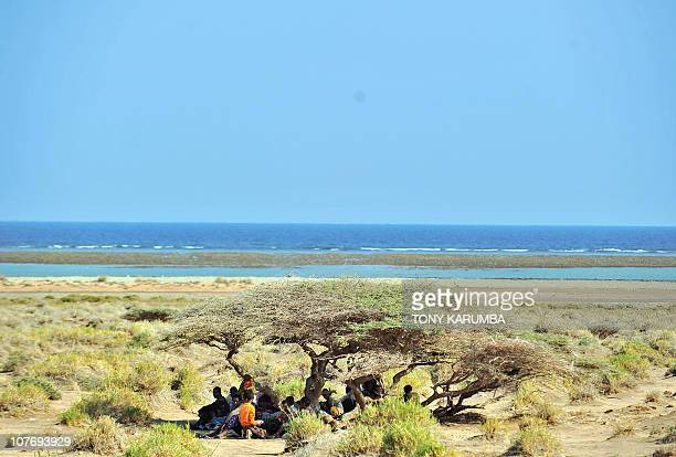 BAKANOEthiopian illegal immigrants from the Oromo region wait on December 5 2010 near Obok north of Djibouti's capital for smugglers' boats to cross...