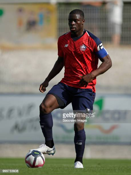 Bakary Adama Soumaoro of Lille during the Club Friendly match between Lille v Reims at the Stade Paul Debresie on July 14 2018 in Saint Quentin France
