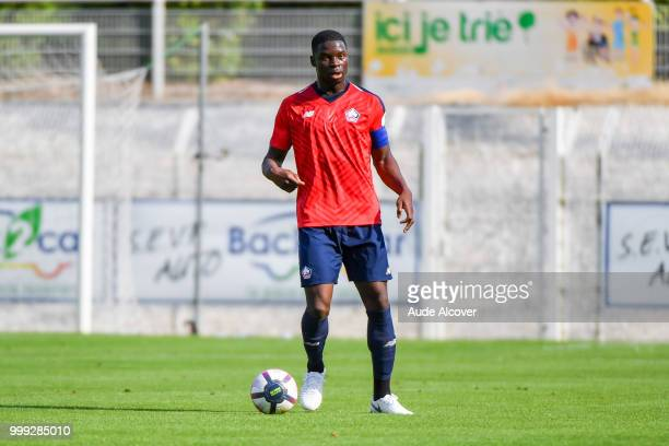 Bakary Adama Soumaoro of Lille during the friendly match between Lille and Reims on July 14 2018 in St Quentin France