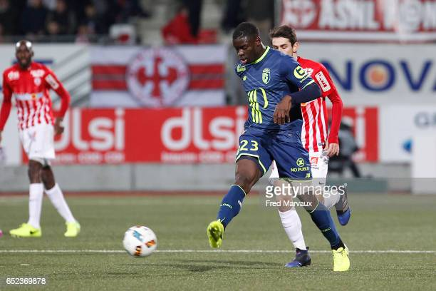 Bakary Adama Soumaoro of Lille during the Ligue 1 match between As Nancy Lorraine and Lille OSC at Stade Marcel Picot on March 11 2017 in Nancy France