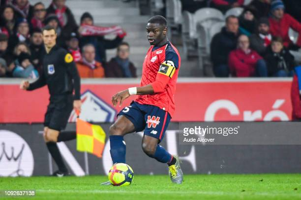 Bakary Adama Soumaoro of Lille during the Ligue 1 match between Lille and Nice at Stade Pierre Mauroy on February 1, 2019 in Lille, France.