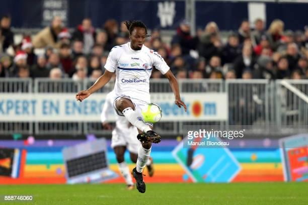 Bakary Kone of Strasbourg during the Ligue 1 match between FC Girondins de Bordeaux and Strasbourg at Stade Matmut Atlantique on December 8 2017 in...