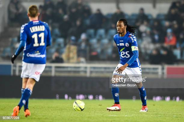 Bakary Kone of Strasbourg during the Ligue 1 match between Strasbourg and Montpellier at on February 23 2018 in Strasbourg