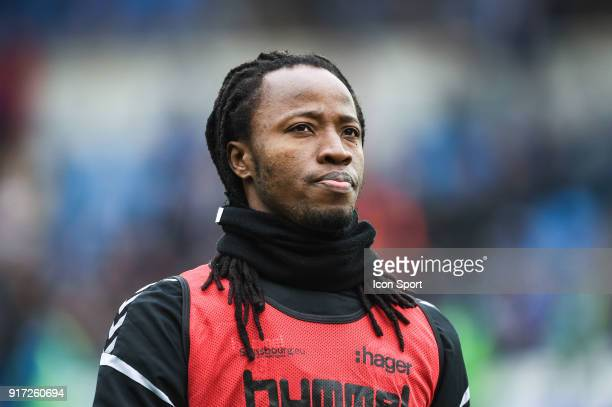 Bakary Kone of Strasbourg warm up before the Ligue 1 match between Strasbourg and Troyes AC at on February 11 2018 in Strasbourg