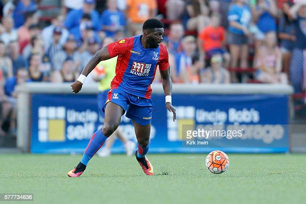 Bakary Sako of Crystal Palace FC controls the ball during the match against FC Cincinnati at Nippert Stadium on July 16 2016 in Cincinnati Ohio
