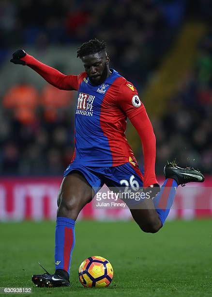 Bakary Sako of Crystal Palace in action during the Premier League match between Crystal Palace and Swansea City at Selhurst Park on January 3 2017 in...