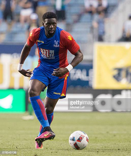 Bakary Sako of Crystal Palace plays against the Philadelphia Union at Talen Energy Stadium on July 13 2016 in Chester Pennsylvania The match ended in...