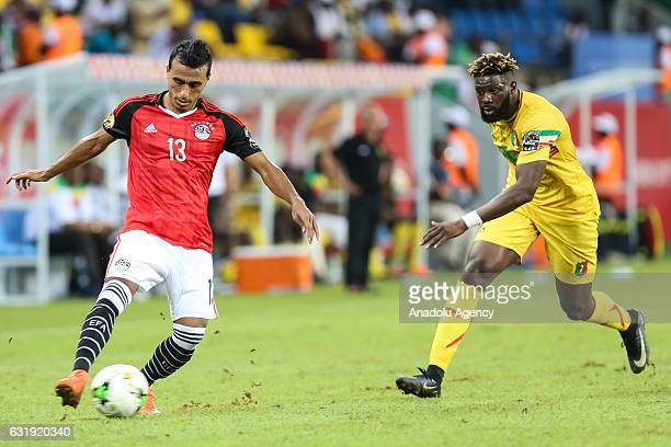 Bakary Sako of Mali in action against Mohamed AbdelShafy of Egypt during the 2017 Africa Cup of Nations group D football match between Mali and Egypt...