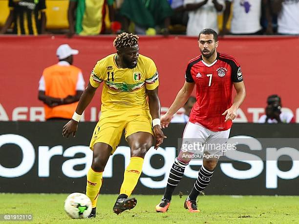 Bakary Sako of Mali in action during the African Cup of Nations 2017 Group D football match between Egypt and Mali in PortGentil Gabon on January 17...