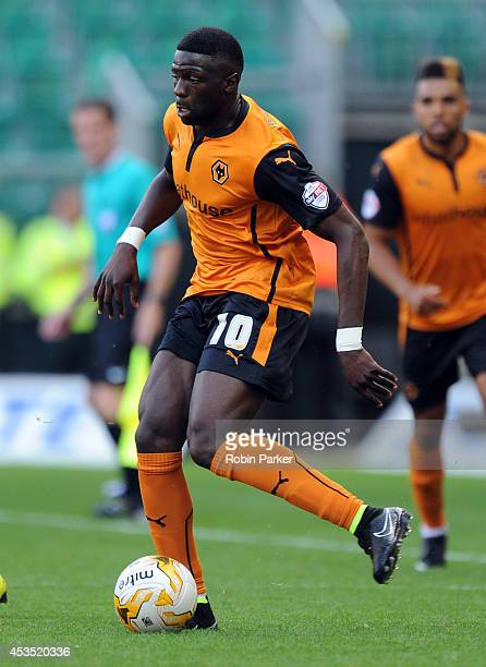 Bakary Sako of Wolverhampton Wanderers during the Sky Bet Championship match between Wolverhampton Wanderers and Norwich City at the Molineux Stadium...