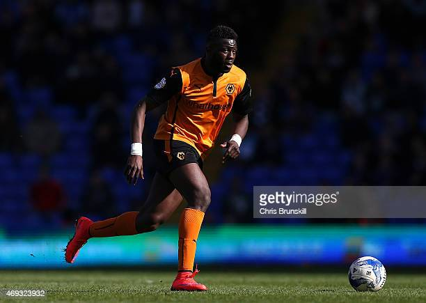 Bakary Sako of Wolverhampton Wanderers in action during the Sky Bet Championship match between Birmingham City and Wolverhampton Wanderers at St...