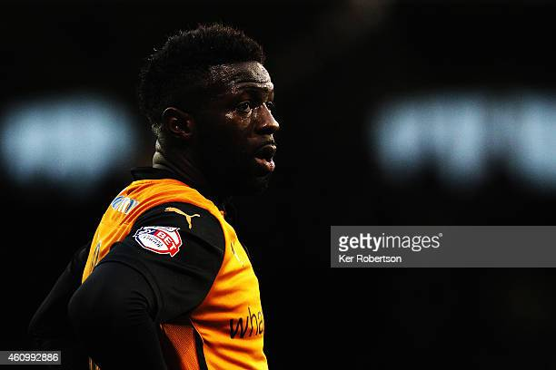 Bakary Sako of Wolverhampton Wanderers looks on during the FA Cup Third Round match between Fulham and Wolverhampton Wanderers at Craven Cottage on...