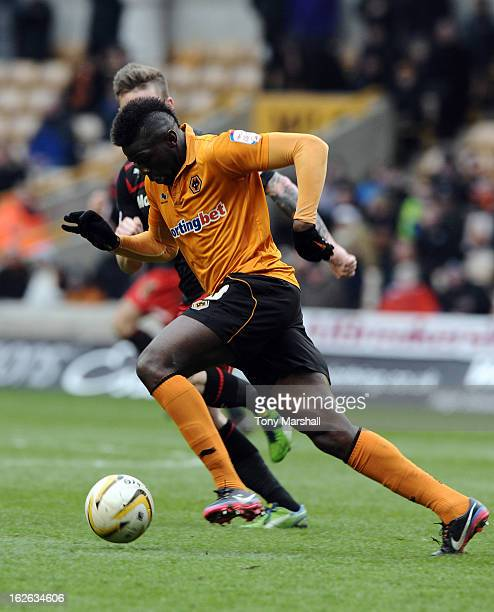 Bakary Sako of Wolves in action during the npower Championship match between Wolverhampton Wanderers and Cardiff City at Molineux on February 24 2013...