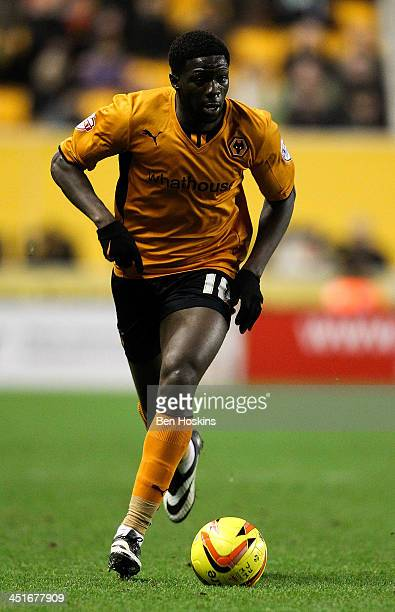 Bakary Sako of Wolves in action during the Sky Bet League One game between Wolverhampton Wanderers and Brentford at Molineux on November 23 2013 in...