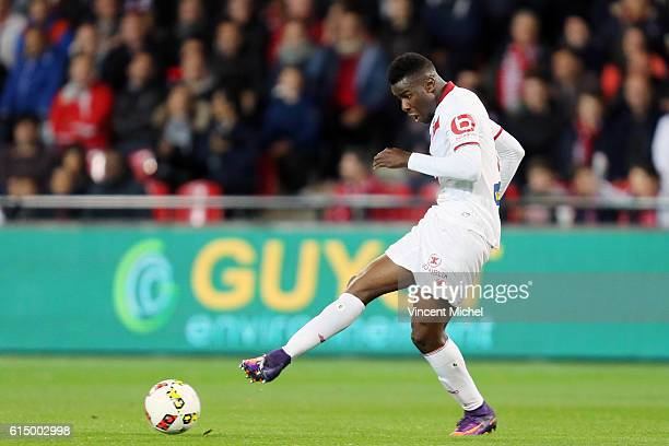 Bakary Soumaoro of Lille during the Ligue 1 match between EA Guingamp and Lille OCS at Stade du Roudourou on October 15, 2016 in Guingamp, France.