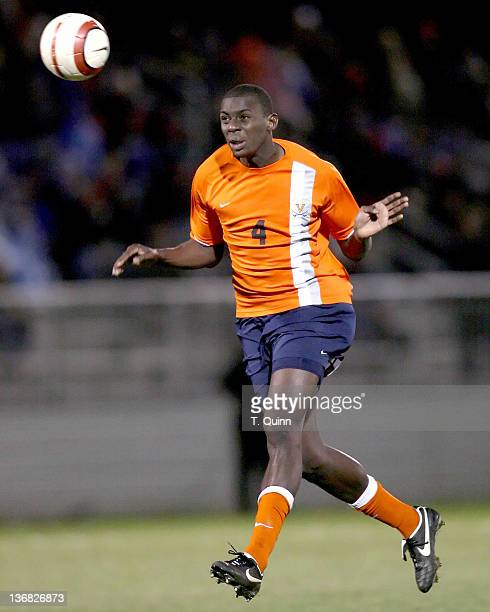Bakary Soumare heads back to his goalkeeper during the 2006 ACC Tournament semifinal match between Wake Forest and Virginia at the Soccerplex in...