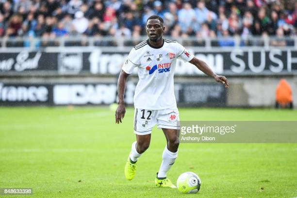 Bakaye Dibassy of Amiens during the Ligue 1 match between Amiens SC and Olympique Marseille at Stade de la Licorne on September 17 2017 in Amiens