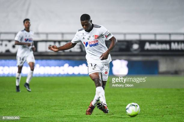 Bakaye Dibassy of Amiens during the Ligue 1 match between Amiens SC and AS Monaco at Stade de la Licorne on November 17 2017 in Amiens