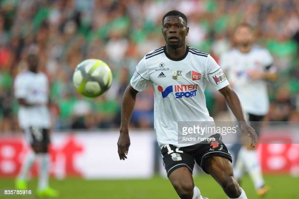 Bakaye Dibassy of Amiens during the Ligue 1 match between AS Saint Etienne and Amiens SC at Stade Geoffroy Guichard on August 19 2017 in Saint...