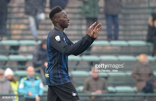 Bakayoko of FC Internazionale celebrates after scoring his team's second goal during the Primavera Tim juvenile match between FC Internazionale and...