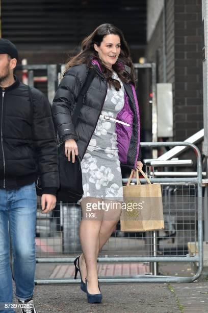 Bake off winner Sophie Faldo seen at the ITV Studios on November 14 2017 in London England
