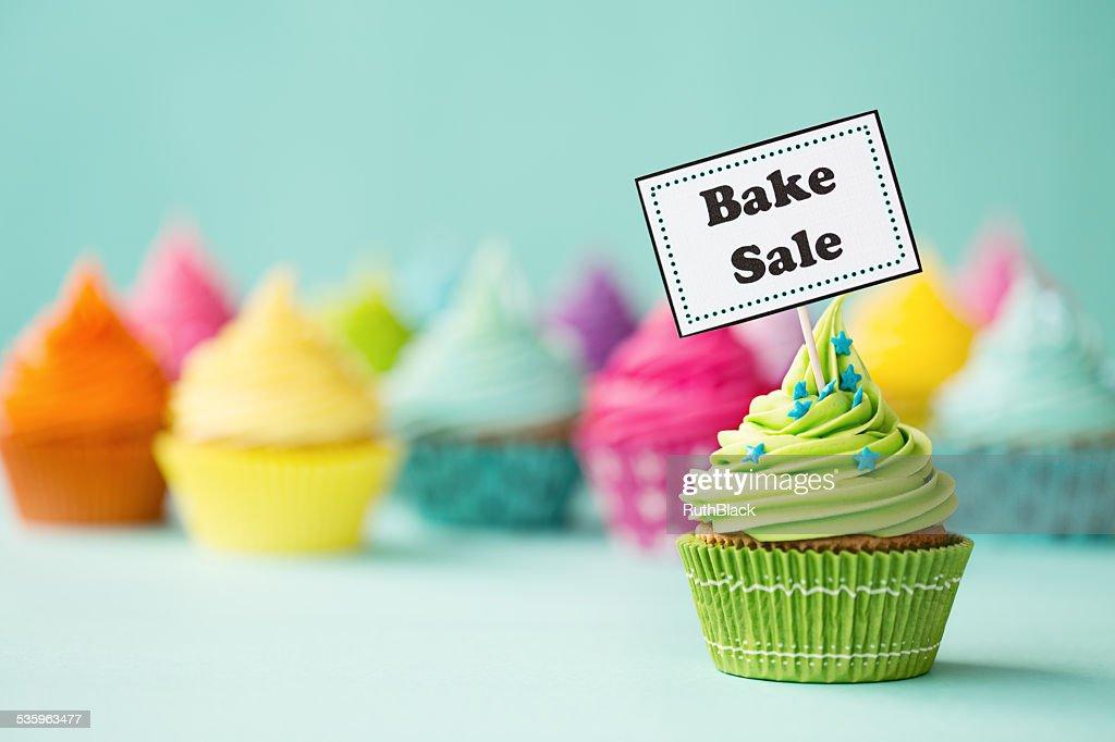 Bake sale cupcake : Stock Photo