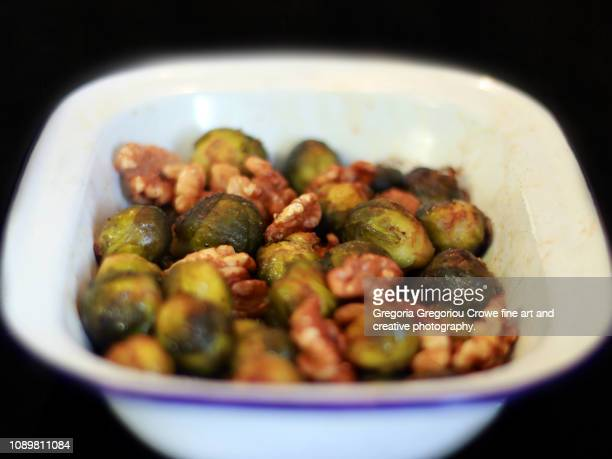 baked brussel sprouts - gregoria gregoriou crowe fine art and creative photography. stock pictures, royalty-free photos & images