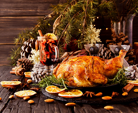 Baked chicken for Christmas or New Year - gettyimageskorea