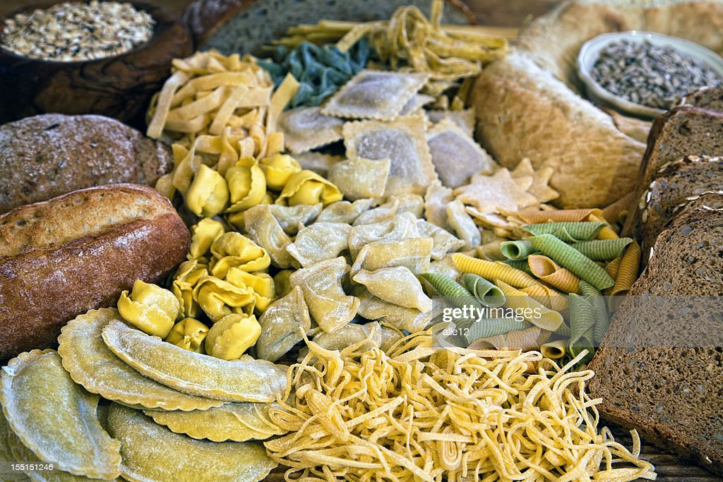 Baked goods and Pasta Still Life : Stock Photo
