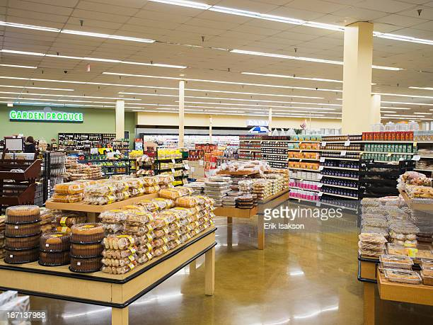 Baked goods section of grocery store