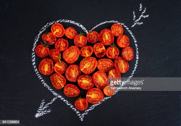 Baked in oven tomatoes