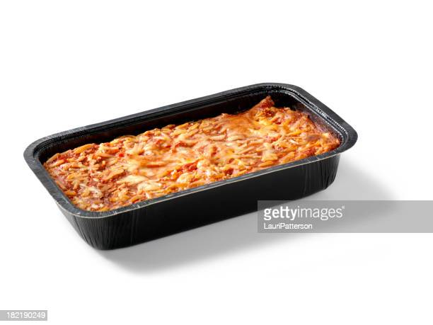 Baked Lasagna in Black Tray